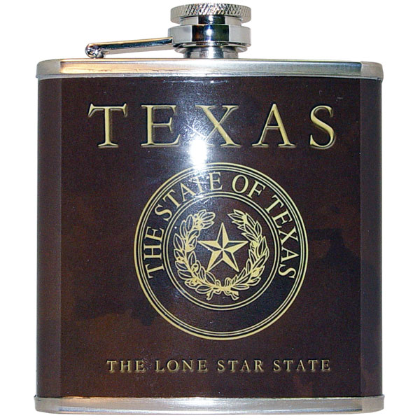 Hip Flask with the Texas State Seal