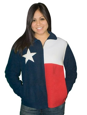 Fleece Jacket with the Texas Flag - for our Texas Ladies