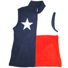 Fleece Vest with the Texas Flag - for Texas Ladies