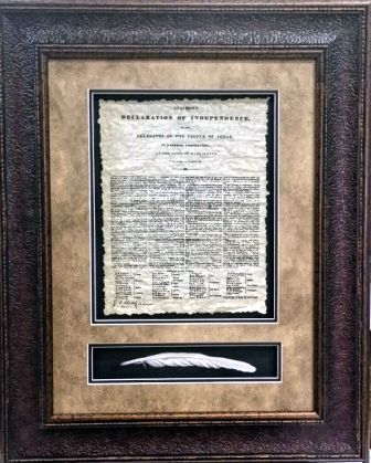 Framed Print - Texas Declaration of Independence with Quill
