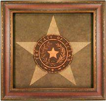 Framed Texas State Seal with Texas Lone Star