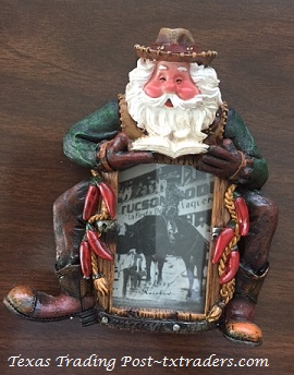 Cowboy Santa Picture Frame for a 2 x 3 Photo