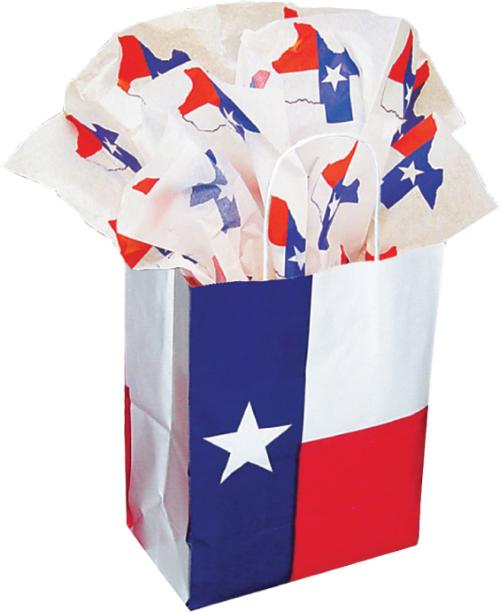 Gift Bag -Texas Flag and Texas Tissue Paper