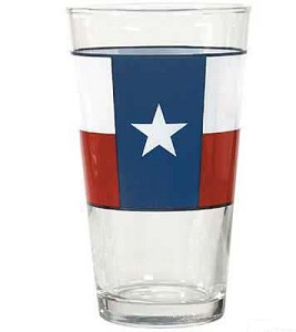 Texas Flag Pint Glass for your Texas Dinnerware