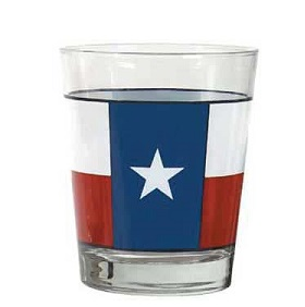 Texas Flag Tumbler Glass for your Texas Dinnerware