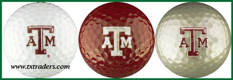 Golf Balls (3) with Texas A&M