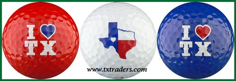 Golf Balls (3) with 'I Love Texas""