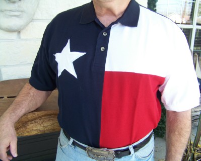 Texas Flag Golf Shirt