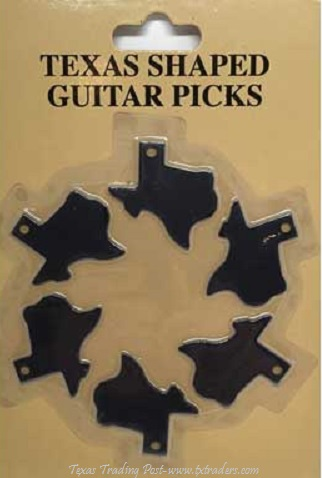 Texas Shaped Guitar Picks - Medium Size