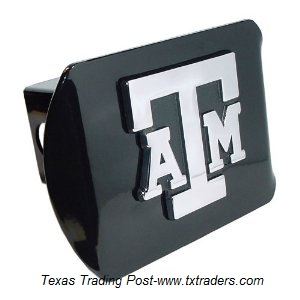 Texas A&M Metal Trailer Hitch Cover