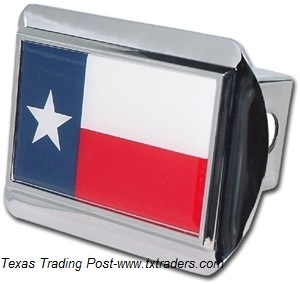 Texas Flag Chrome Trailer Hitch Cover