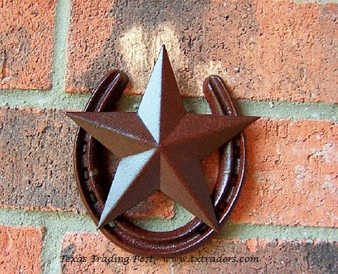 Horseshoe with Texas Lone Star-Good Luck