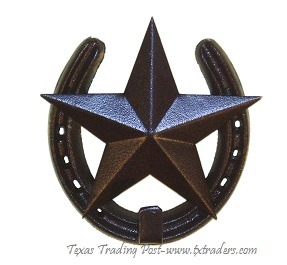 Horseshoe Hook with Texas Lone Star-Good Luck