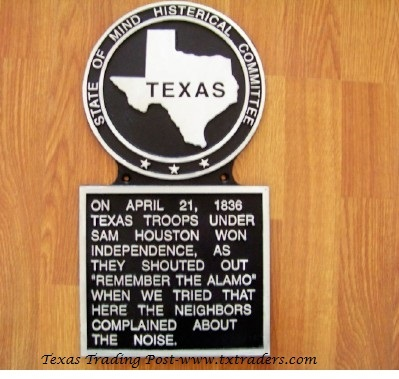 Histerical Plaque - On April 21, 1836...Texas Histerical Sign