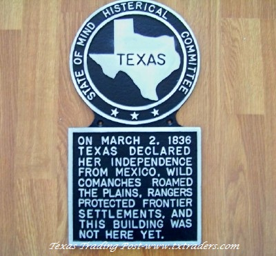 Histerical Plaque - On March 2, 1836... Texas Histerical Sign