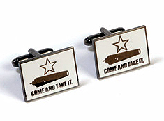 Cufflinks - Come and Take It Texas Battle Flag
