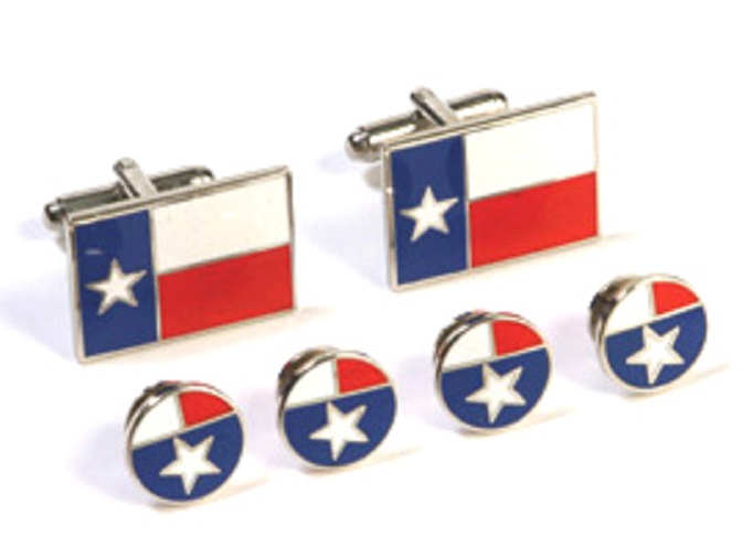 Cufflink and Tux Set - Texas State Flag