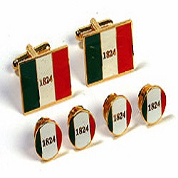 Cufflinks and Tux Set - Alamo Flag 1824