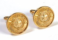 Cufflinks - Texas State Seal (gold)