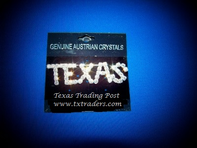 Crystal Texas Rhinestone Pin