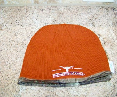 Knit Hat-Reversible- For Texas Longhorn Fans!