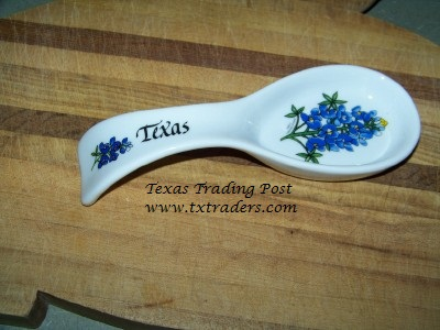 Spoon Rest with Texas Bluebonnets