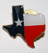 Lapel Pin in the Shape of Texas