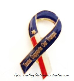 Lapel Pin Texas Supports Our Troops