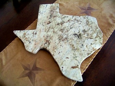 Texas Shaped Granite Lazy Susan