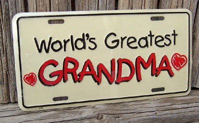 World's Greatest Grandma License Plate