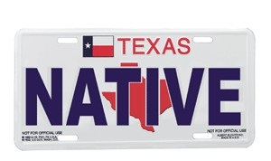 Texas License Plate - Native