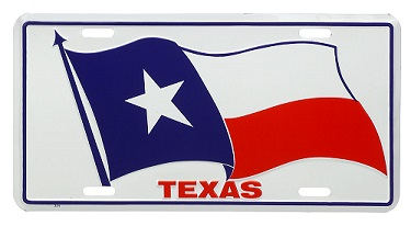 Texas Flag and TEXAS License Plate