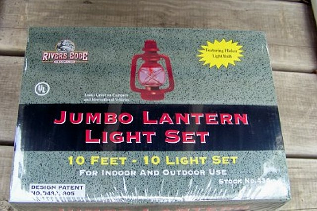 Jumbo Lantern Light Set - Texas Patio - Camping