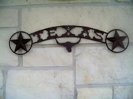Texas with Longhorn Sign