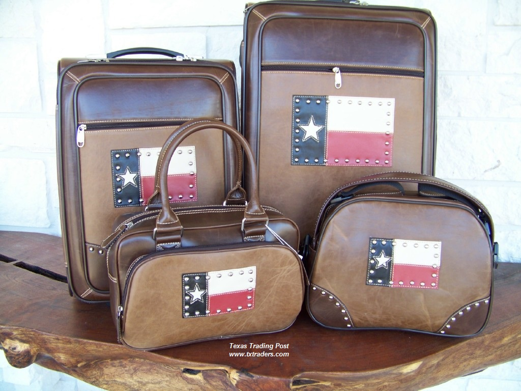 Texas Flag 4 Piece Texas Luggage Set