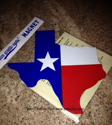Texas Map Magnet for your Car or Truck