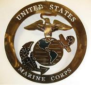 Military - United States Marine Corps Metal Art Sign