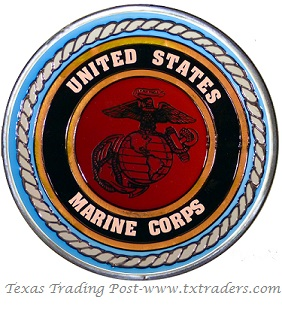 U.S. Marines Hand Painted Glass Art