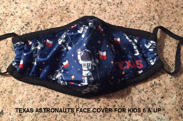 Texas Astronaut Mask Cloth Face Cover - For Kids 6 & Up