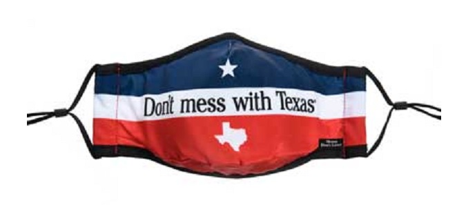 Texas Cloth Face Mask for COVID-19 - Don't Mess with Texas