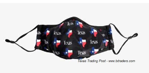 Texas Map & TEXAS Cloth Face Mask for COVID-19 - Face Cover