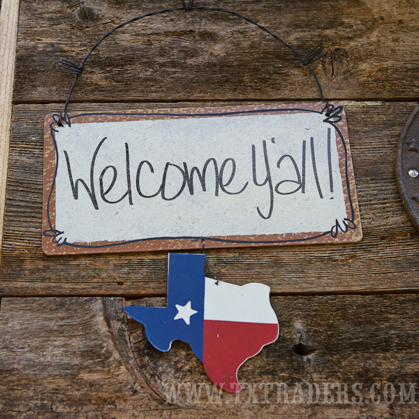 Texas Sign  Welcome Y'all!