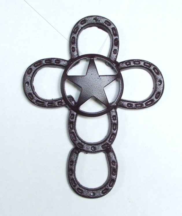 Horseshoe Mini Cross with the Texas Lone Star