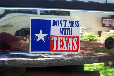 Don't Mess with Texas Mini Bumper Sticker