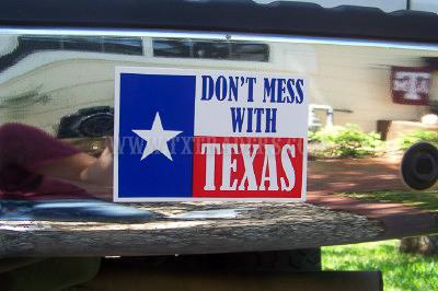 Don't Mess with Texas Mini Bumper Sticker