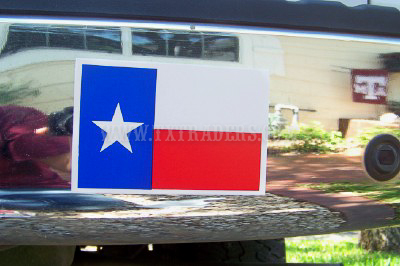 Texas Flag  Mini Bumper Sticker