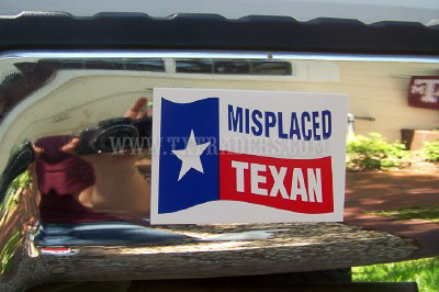 Misplaced Texan - Mini Texas Bumper Sticker