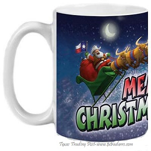 Coffee Mug - Merry Christmas Y'all - Texas Christmas