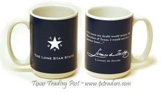 de Zavala Flag - Texas Coffee Mug