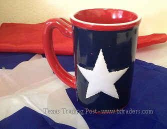 Coffee Mug with the Texas State Flag